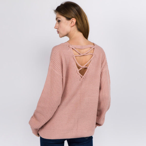 Fall In Love Criss-Cross Sweater
