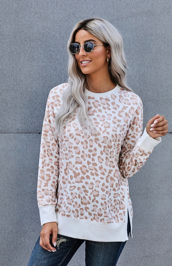 Slow Down And Appreciate The Good Things Leopard Pullover