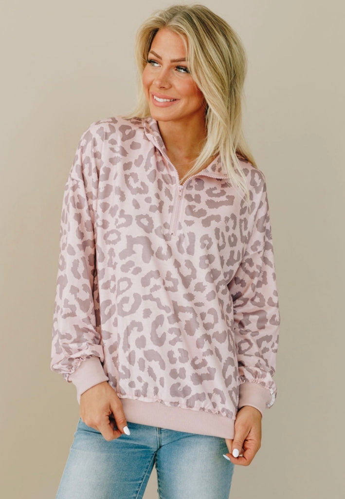 Fallin' In Love With These Colors Leopard Pullover