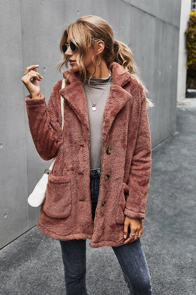 Love You Faux-Ever Button Down Coat