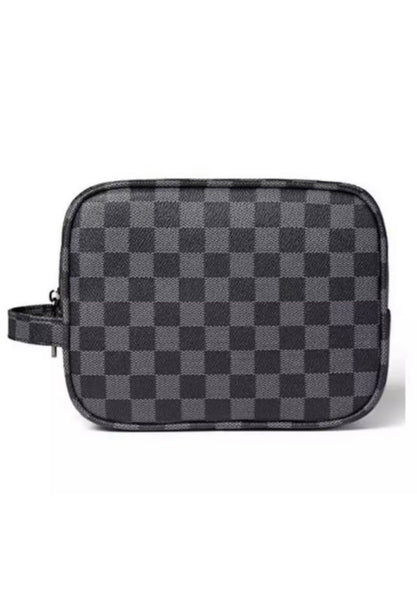 Checks And Balances Square Toiletry Bag