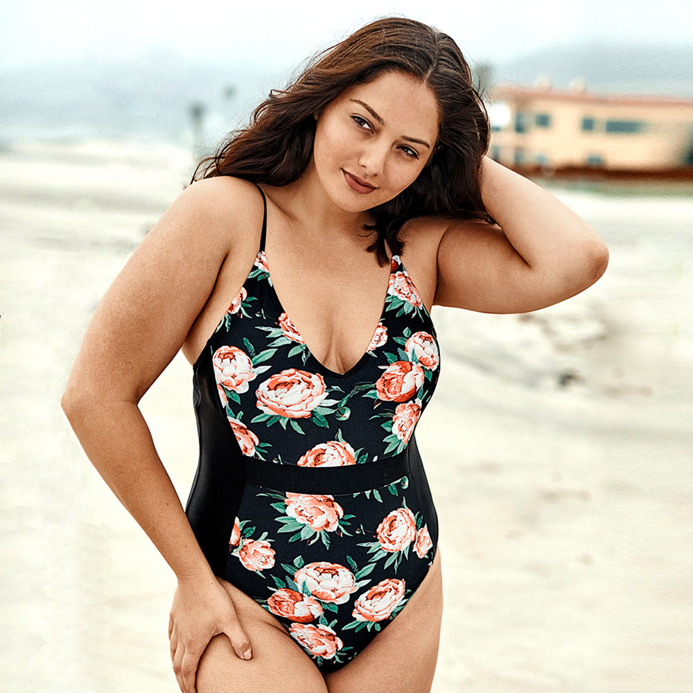 Can't Wait To See Our Love Grow Plus-Size One-Piece Swimsuit