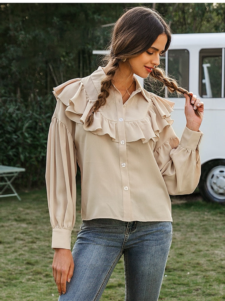 Take Me For A Ride Ruffle Blouse