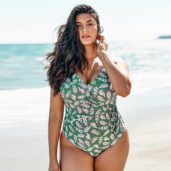 Take It Or Leaf It Plus Size One-Piece Swimsuit