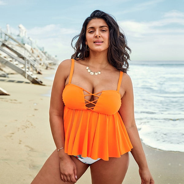 It's Time For A New Adventure Plus Size Two-Piece Swimsuit