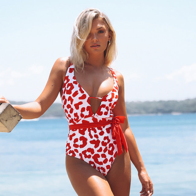 Collect Beautiful Moments Leopard One-Piece Swimsuit