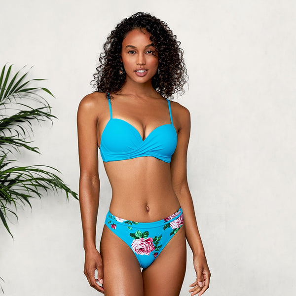 Wake Me Up Before You Go Push-Up Two-Piece Swimsuit