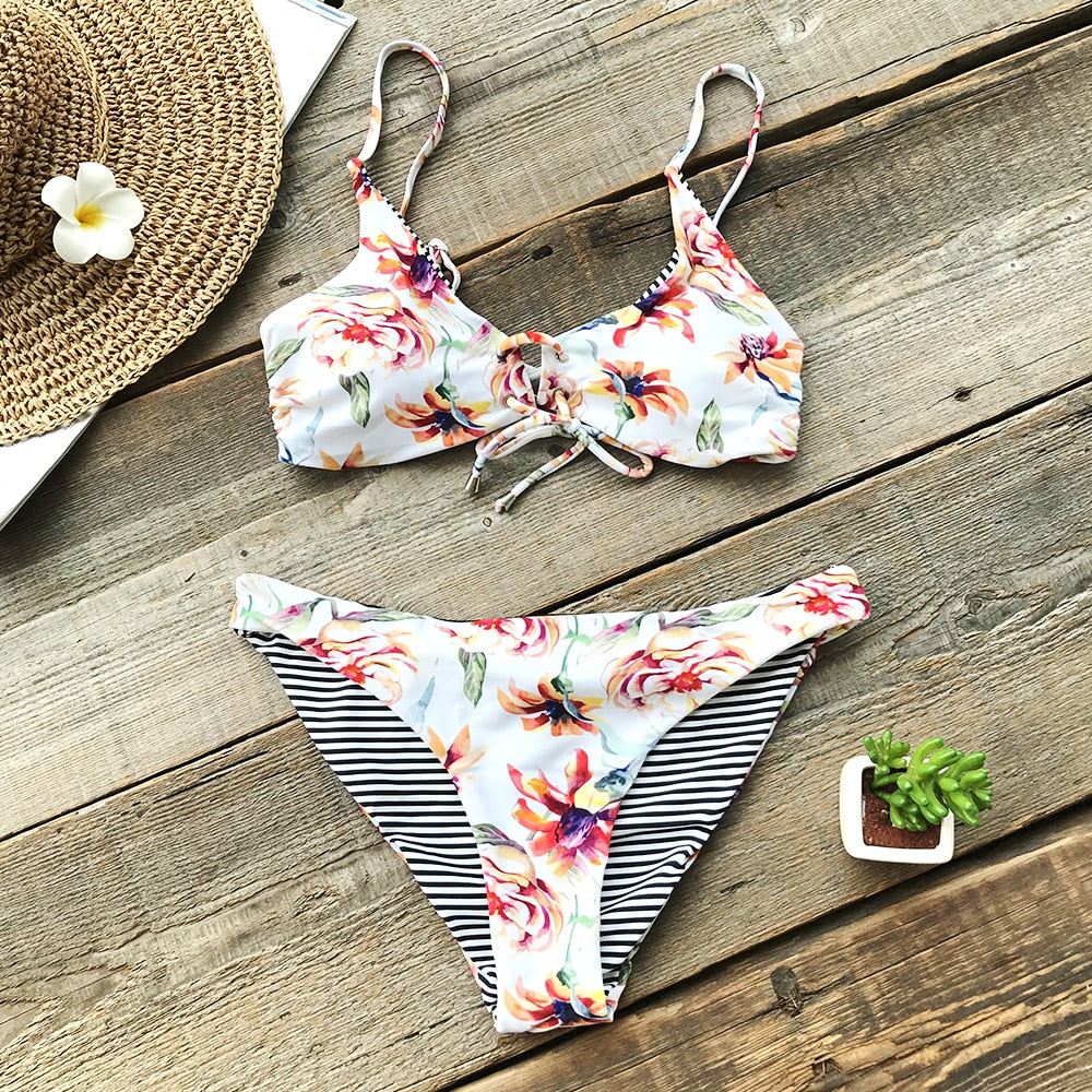 The Beach Is Calling Reversible Two-Piece Swimsuit