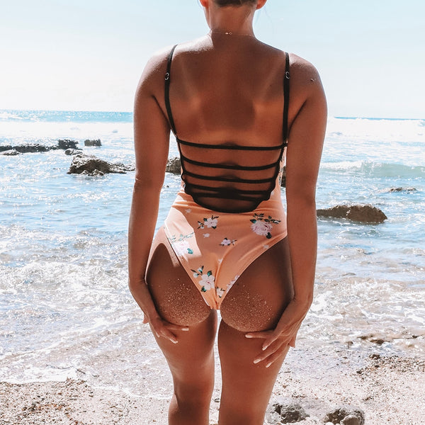 Peachy Keen Floral One-Piece Swimsuit