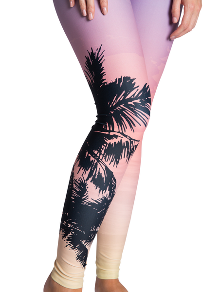 Sunset Sky Leggings Calf View