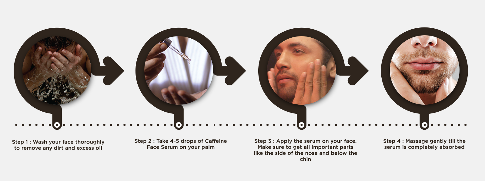 How to use coffee face serum