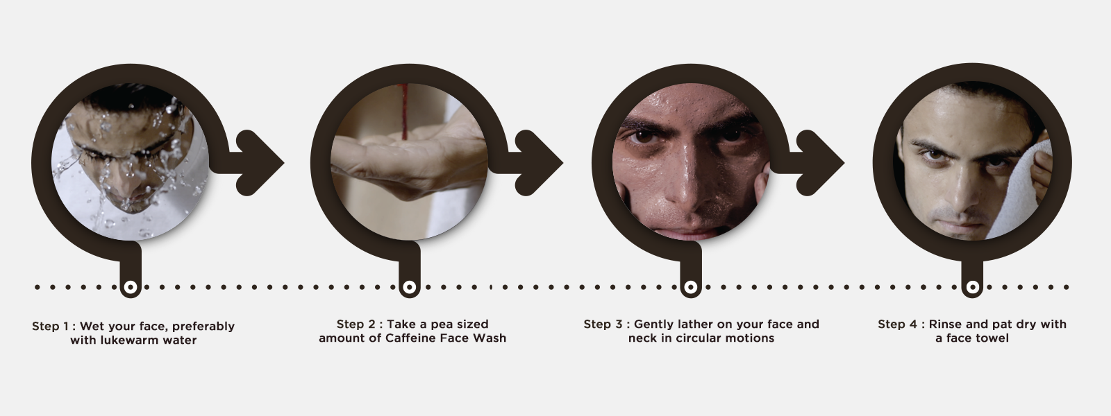 How to use coffee face wash