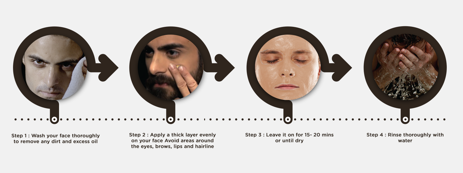 How to use coffee face pack