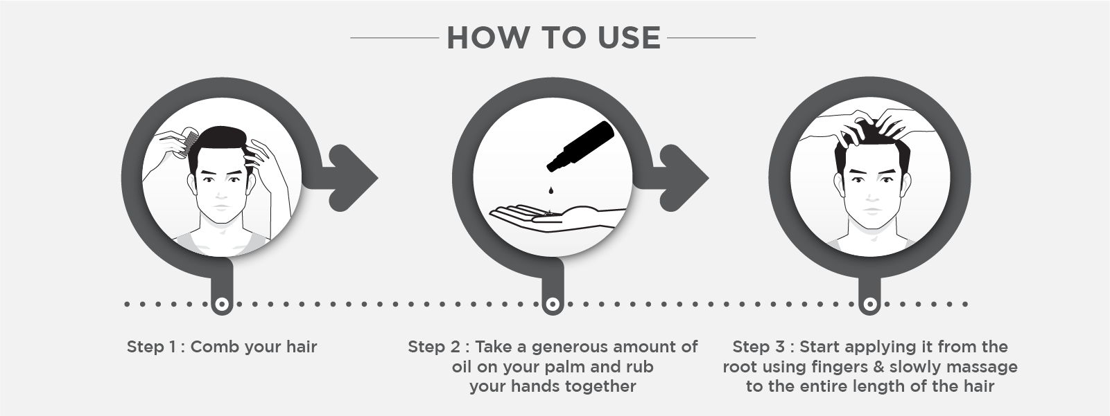 How to use hair growth oil