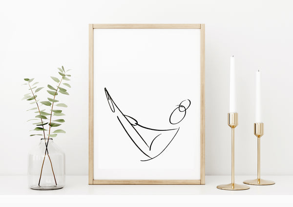 Yoga Line Drawings / Multi Buy / 2 Prints