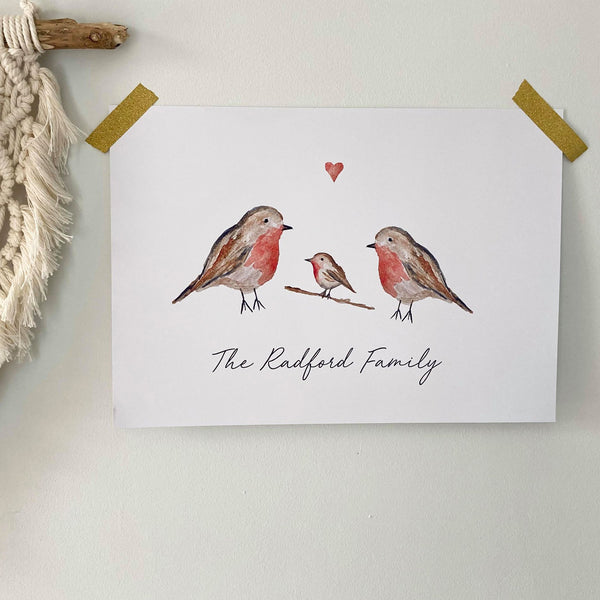 Personalised Robin Family
