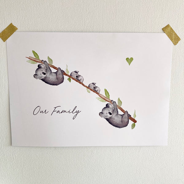 Personalised Koala Family