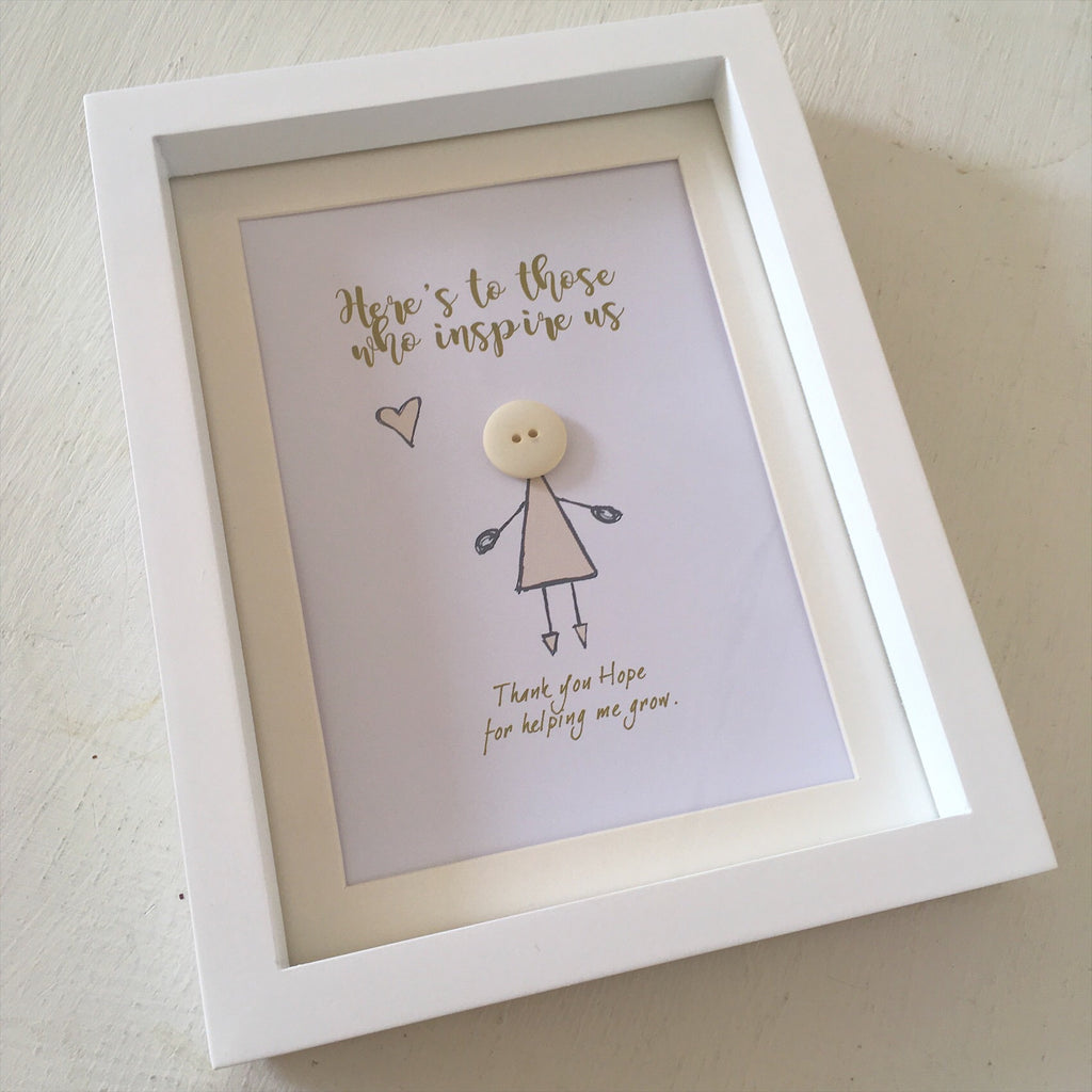 Teacher Mini Frame - \'Here\'s to those who inspire us\' – The Little ...