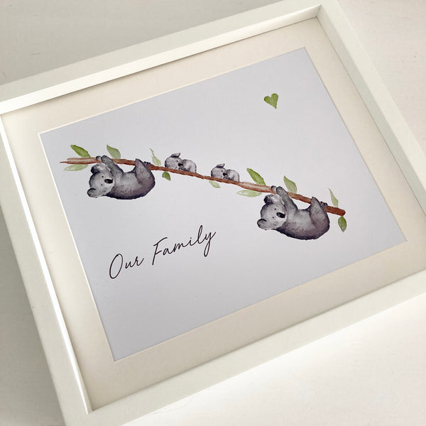 Koala Personalised Print - Unframed