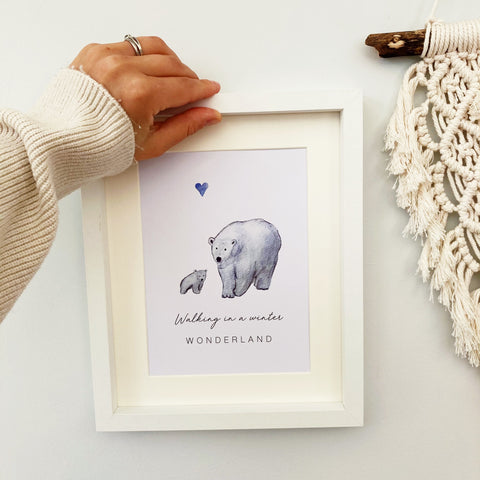 Walking in a Winter Wonderland - Polar Bear Print