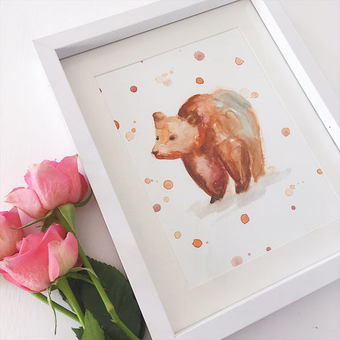 Mama Bear - Original Water Colour Painting