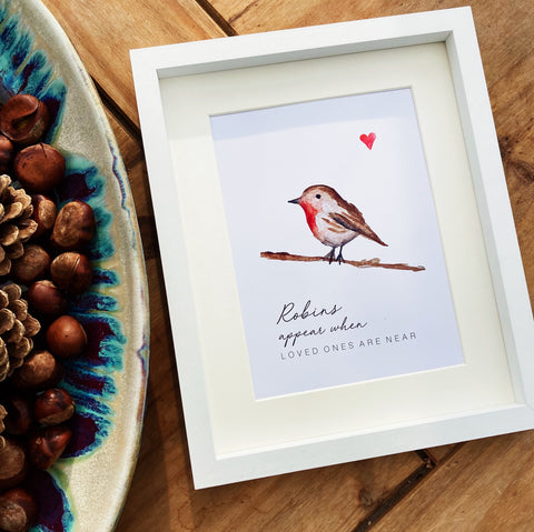 Robins appear when loved ones are near - Print