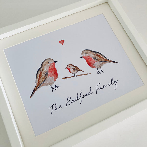 Robin Personalised Print - Unframed