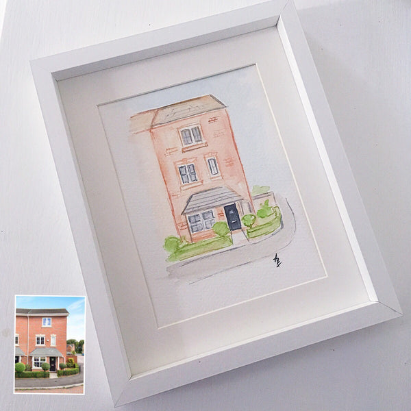 Personalised House Painting - Original Water Colour