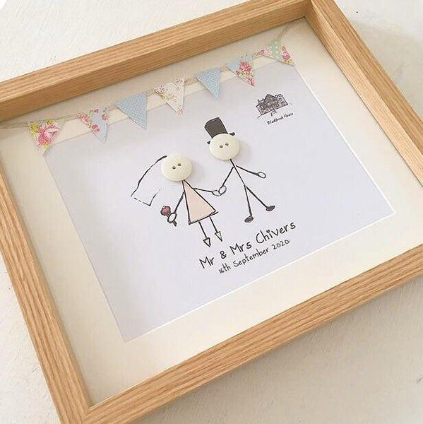 Wedding Couple with Bunting