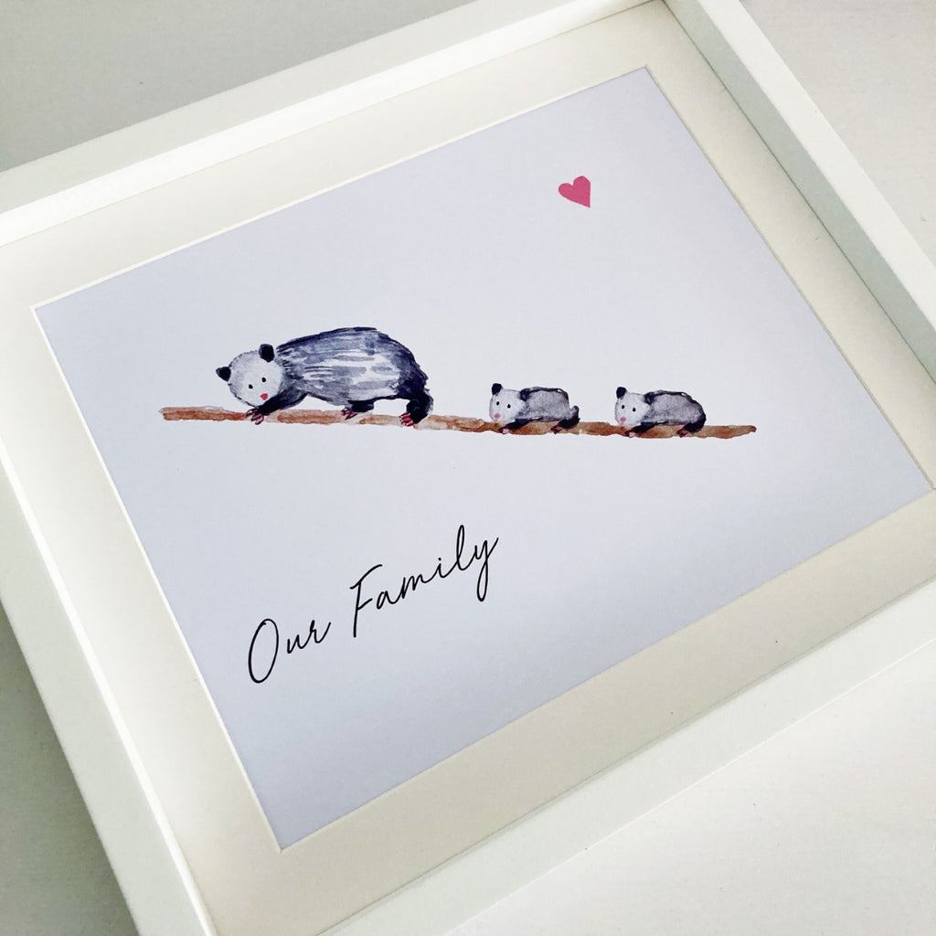 Personalised Opossum Family