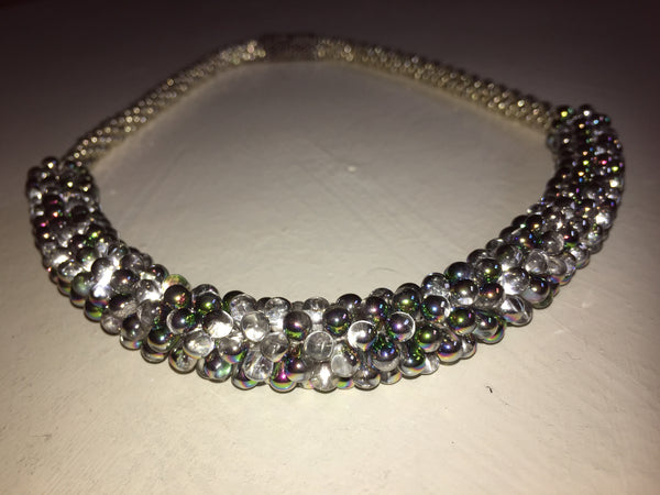 Beautiful hand-crafted necklace - Iridescence - with strong magnetic clasp