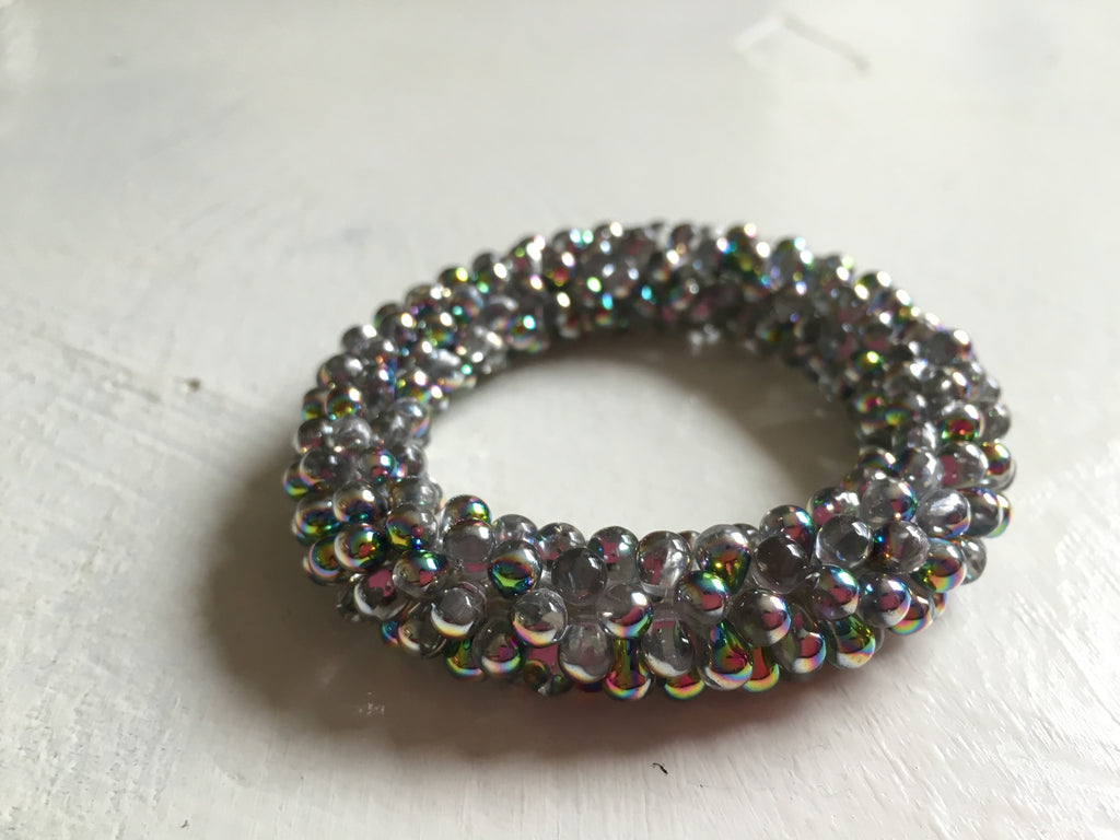 Beautiful hand-crafted bracelet - Iridescent