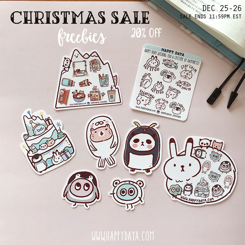 (The current freebies, available until Feb16 7:59 am EST) Christmas Sale