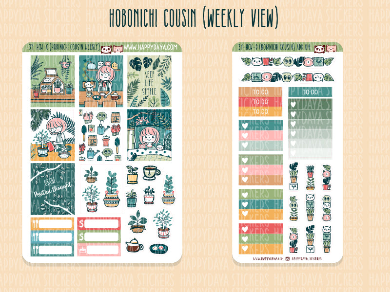 3 YEAR BUNDLE: Hobonichi Cousin kit (weekly view)