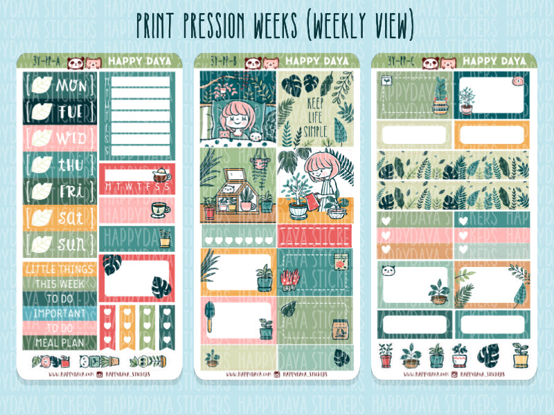 3 YEAR BUNDLE: Print Pression Weeks kit (weekly view and monthly view)