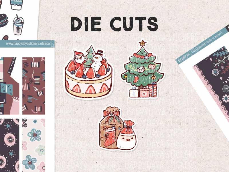 DC021: Christmas decorations set (3 pieces)