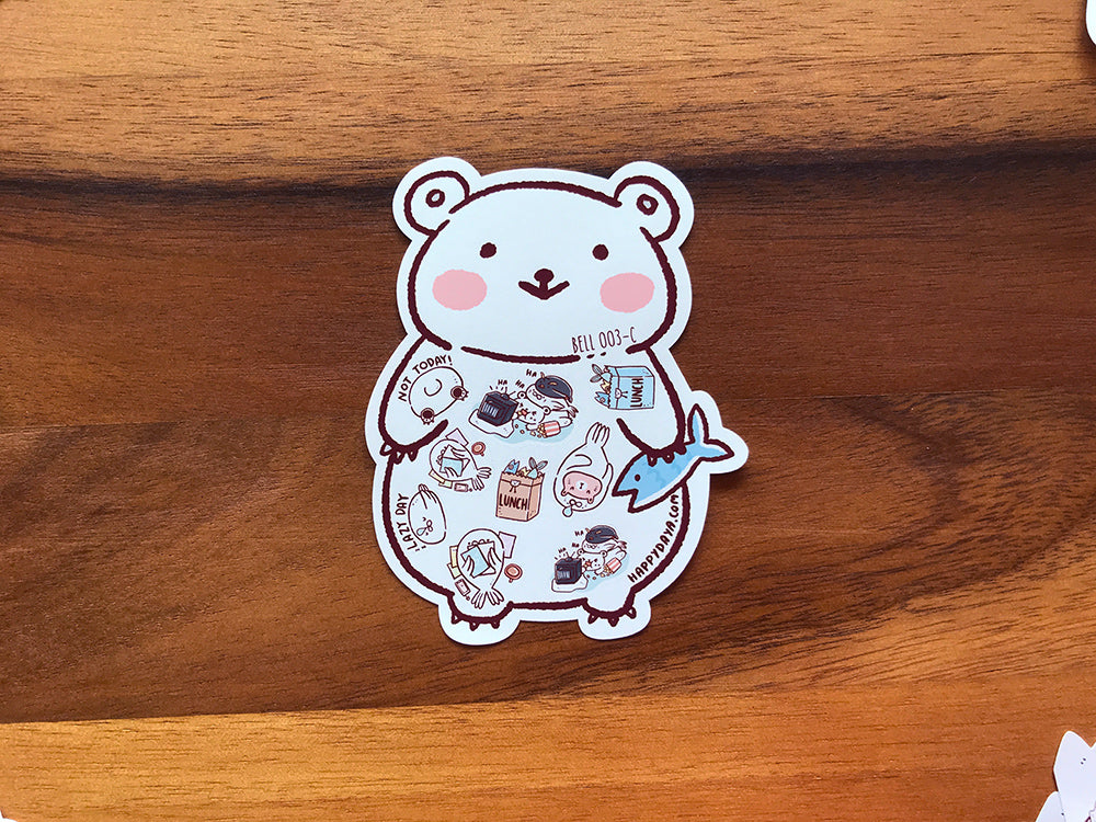 BELL003: Arctic animals - Decorative stickers set