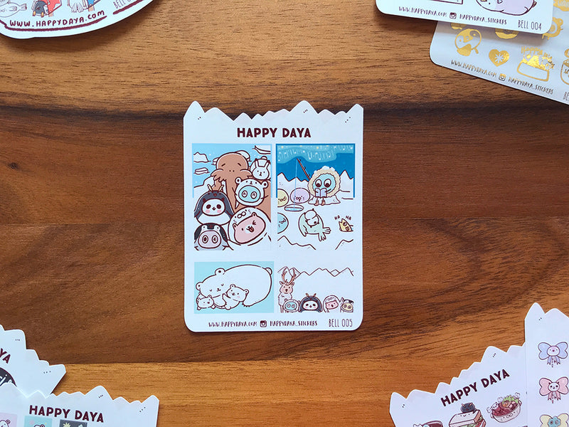 BELL005: Arctic animals - Full box stickers