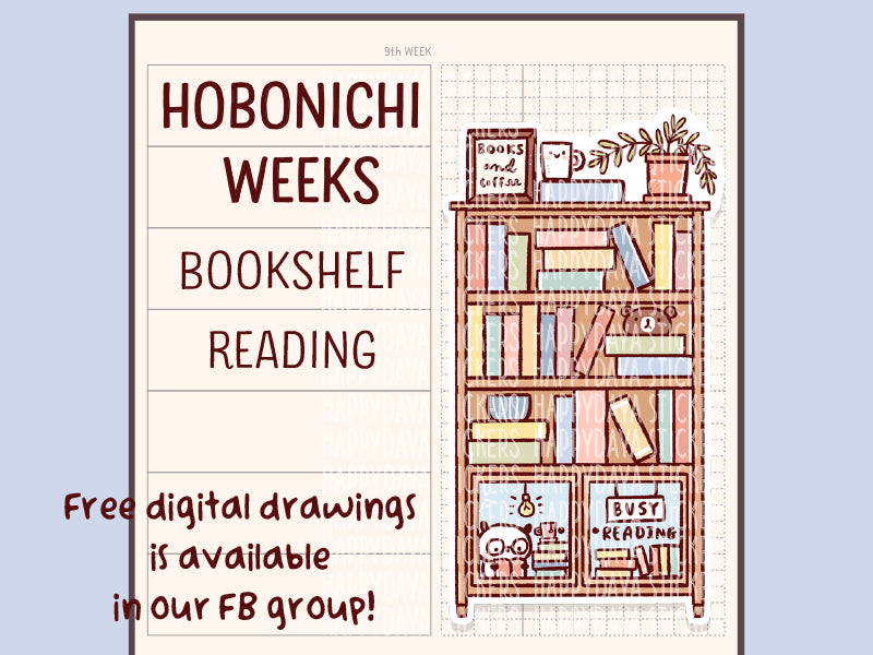FD009: Hobonichi Weeks bookshelf stickers