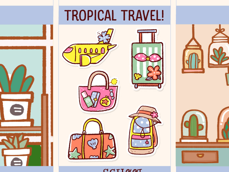 FI074: Travel tropical theme
