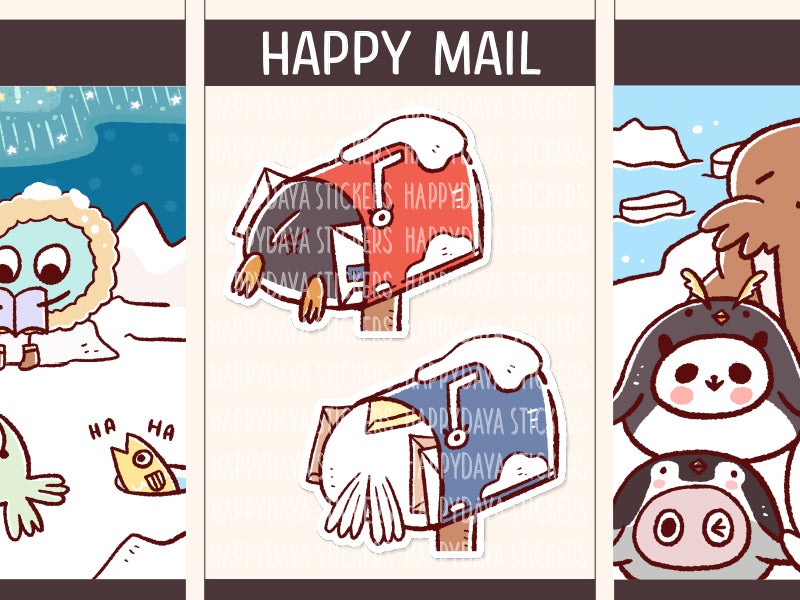 FI107: Arctic animals happy mail