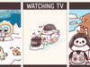 FI108: Arctic animals watching TV