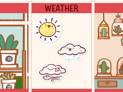FI110: Weather stickers