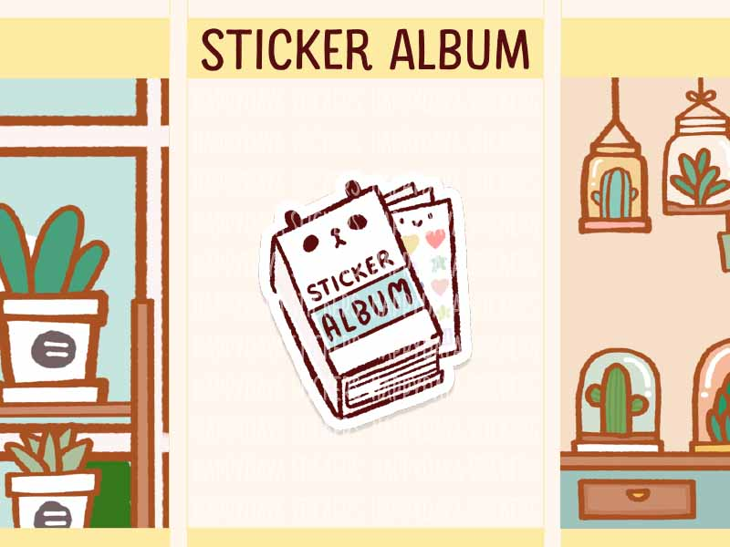 FI115: Sort sticker album