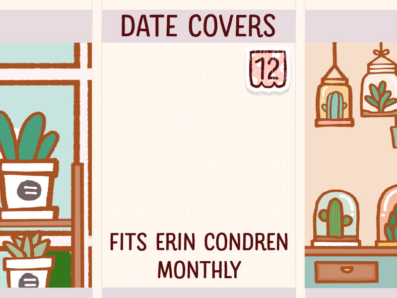 FI126: Date cover (for monthly planner)