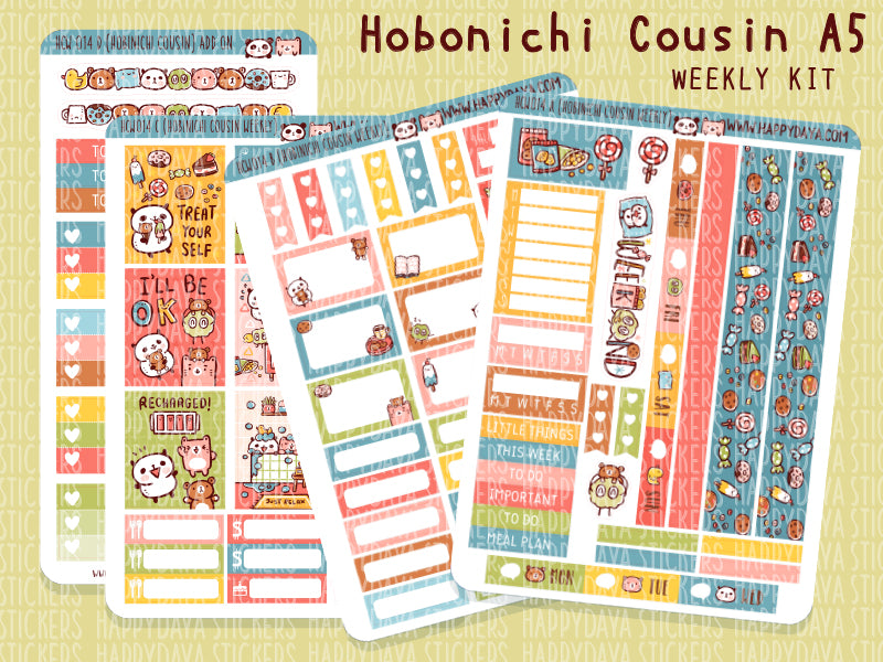 HCW014: Time to relax kit (Hobonichi Cousin A5 weekly kit)