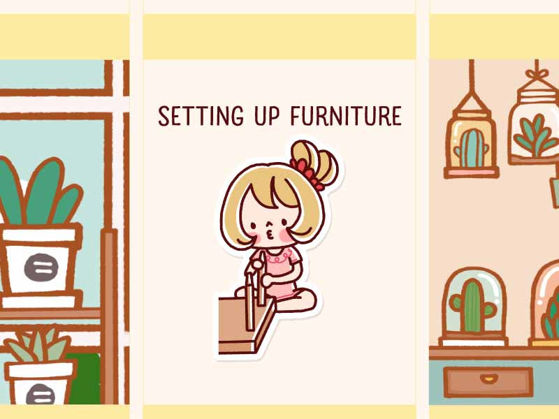 HF039: Setting up furniture
