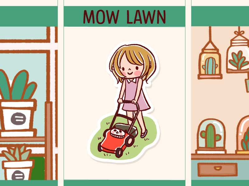 HF138: Mowing Lawn