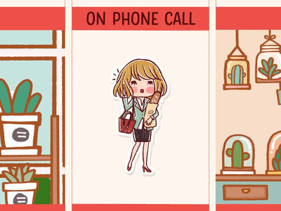 HF150: Business woman on phone call while holding the bread