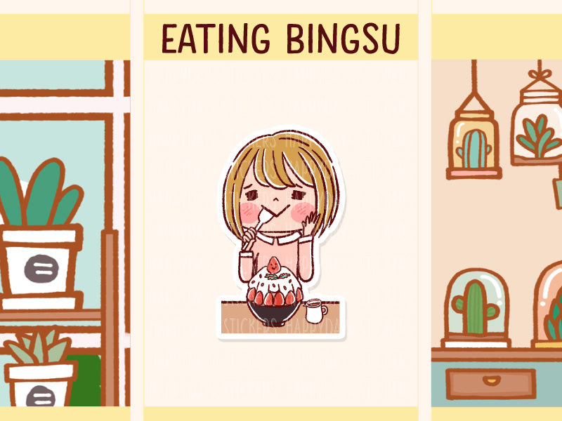 HF161: Girl eating bingsu